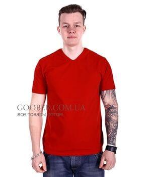 Мужская однотонная футболка 44/8 Mastif корал