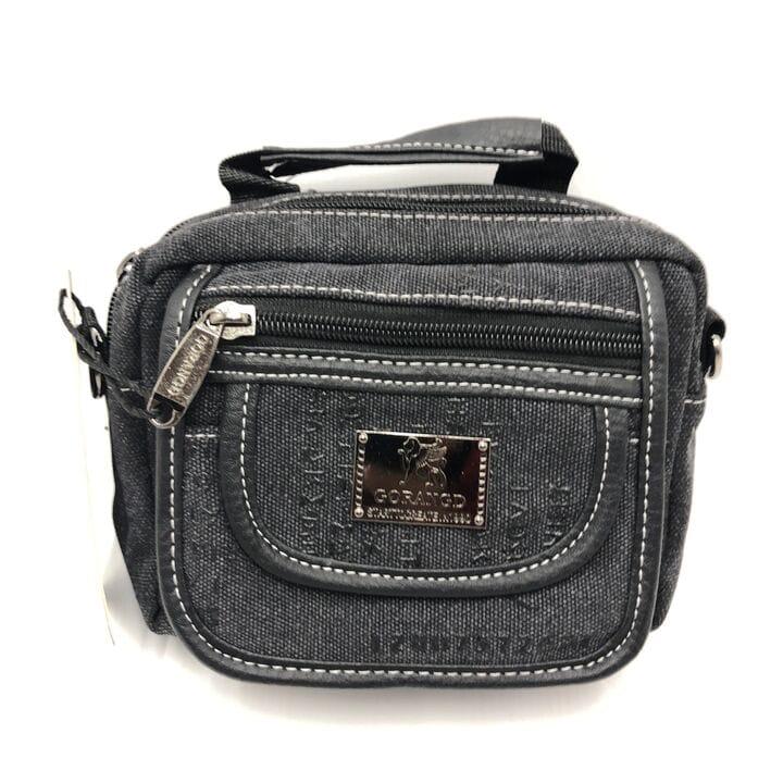 Мужская сумка через плече Gorangd Черный (9902/2)