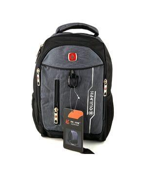 Городской рюкзак Jiaze 34 x 26 x 15 см Черный с серым (jia608/2)