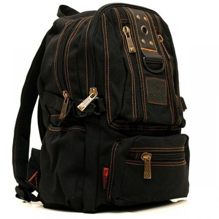 Джинсовый подростковый рюкзак Gold Be 25 x 40 x 14 см Черный (1304/1)