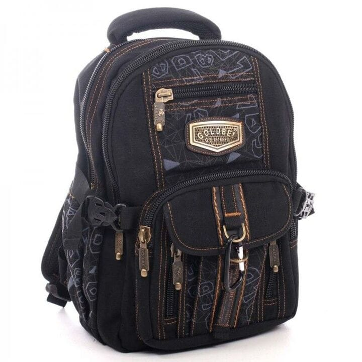 Джинсовый подростковый рюкзак Gold Be 24 x 35 x 15 см Черный (b797/1)