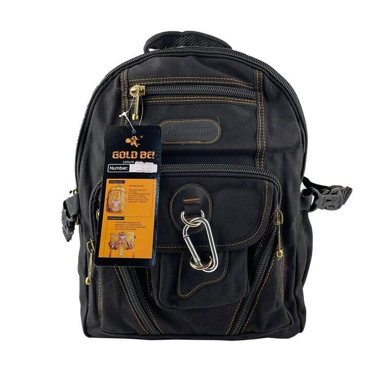 Джинсовый рюкзак Gold Be 28 x 38 x 15 см Черный (gb0107/2)