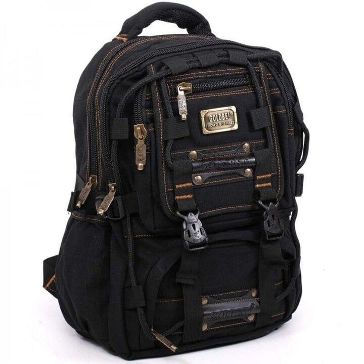 Джинсовый подростковый рюкзак Gold Be 35 x 50 x 19 см Черный (98209/1)