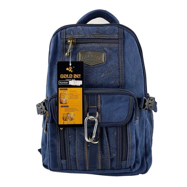 Джинсовый подростковый рюкзак Gold Be 29 x 40 x 15 см Синий (gb757/3)