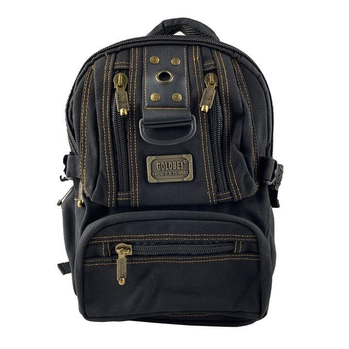 Маленький джинсовый рюкзак Gold Be 24 x 35 x 15 см Черный (gb1305/1)