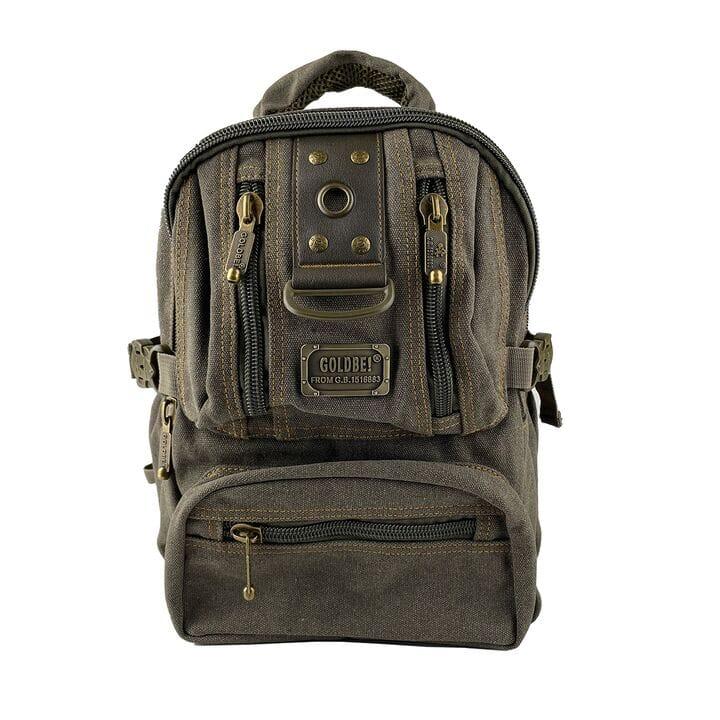 Маленький джинсовый рюкзак Gold Be 24 x 35 x 15 см Зеленый (gb1305/2)