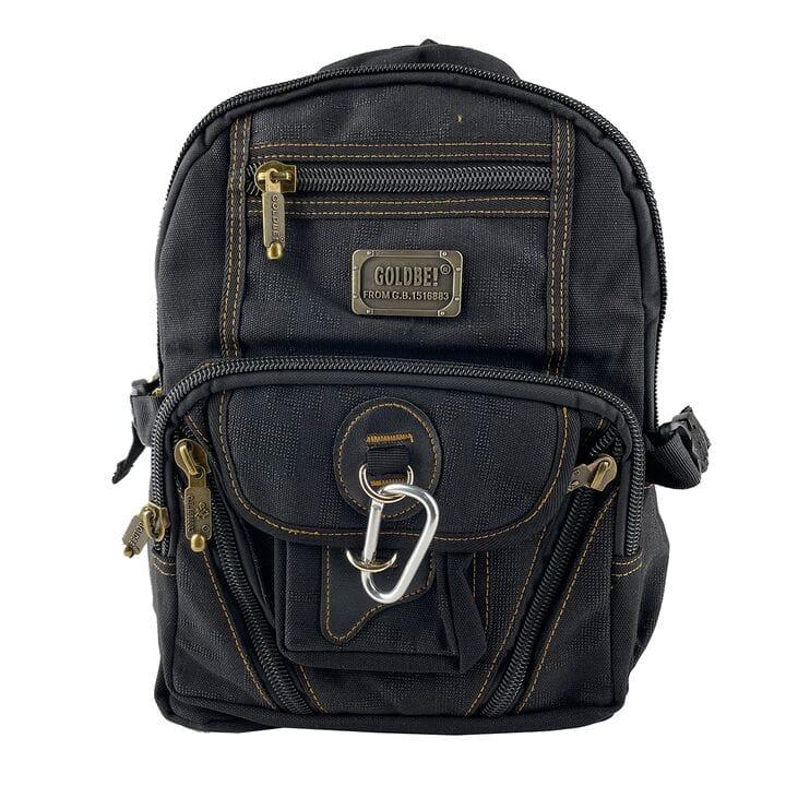 Джинсовый школьный рюкзак Gold Be 25 x 35 x 15 см Черный (gbbh002/1)