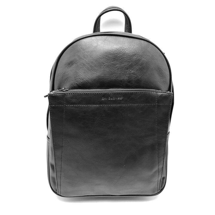 Черный городской рюкзак из еко кожи David Jones (686604)