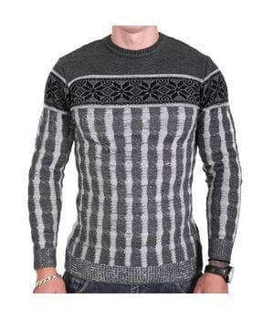 Мужской свитер Msatiff k0218/2 Серый