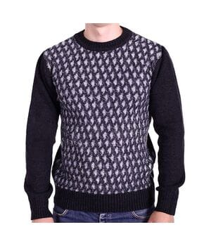 Мужской шерстяной свитер Gerekli Турция k0618/2 Черный
