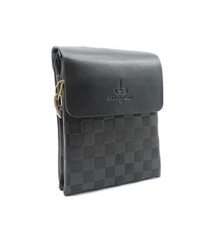 Маленькая мужская сумка Langsa из качественной кожи PU(6764-1)