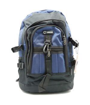 Мужской рюкзак Gorangd черный с синим (GM002/2)