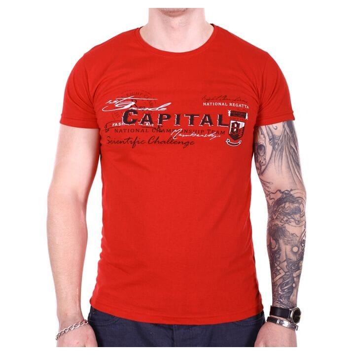 Мужская футболка Rixon турция Capital f1905/5 Красная