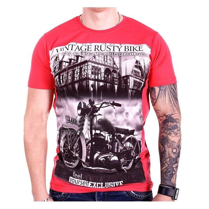 Турецкая футболка StrongMan Bike f1929/7 Кораловая