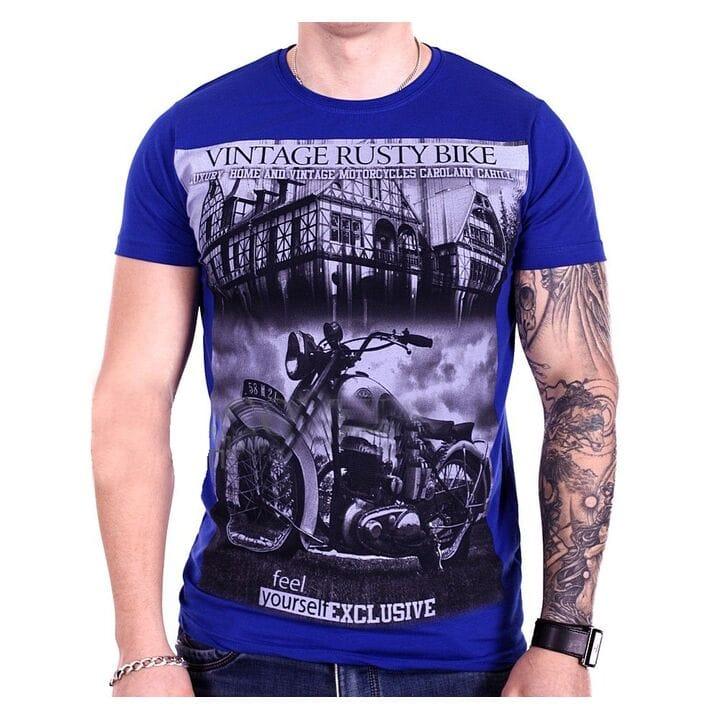 Турецкая футболка StrongMan Bike f1929/9 Темно-синяя
