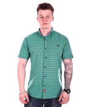 Рубашка с коротким рукавом Ronex Турция s1519/4 Зеленая