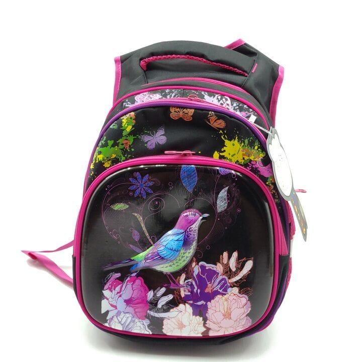 Рюкзак школьный Gorangd 30 х 38 х 16 см Черный с розовым (r1971/2)