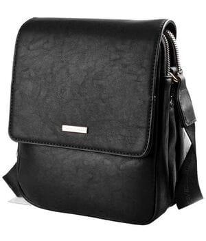 Мужская сумка David Jones 22x18x9 см Черная (5984-2)