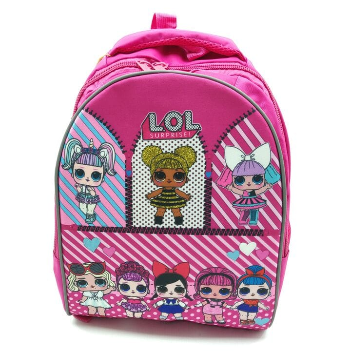 Рюкзак школьный Miqini 36.5x25x14 см 11.5л Розовый (r6832/1)