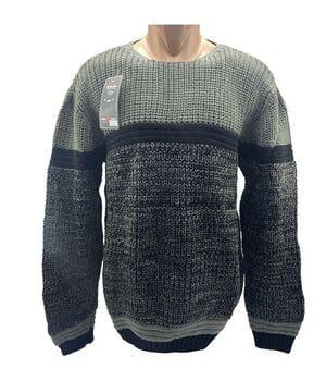 Мужской свитер Wild OBOY Турция wo1058/1 Серый с черным