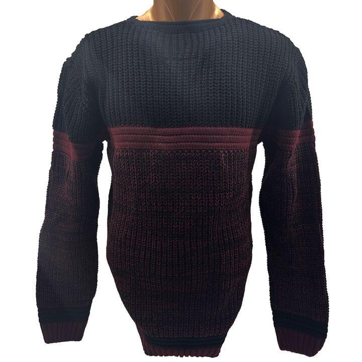 Мужской свитер Wild OBOY Турция wo1058/2 Черный с бордовым