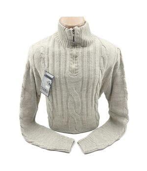 Шерстяной мужской свитер Blur k0518/4 Бежевый