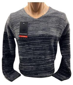 Мужской свитер Mastiff Турция k6930/2 Черный с серым