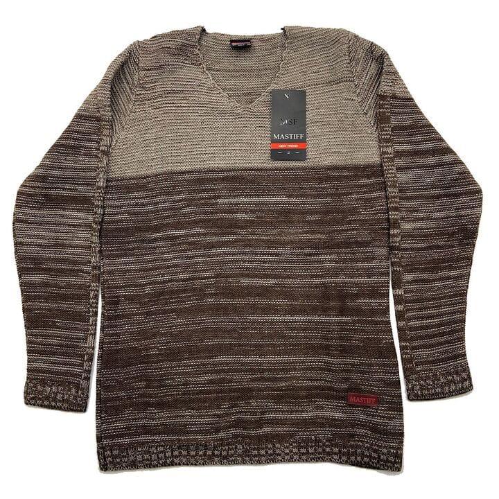 Мужской свитер Mastiff Турция k6930/3 Беж с коричневым