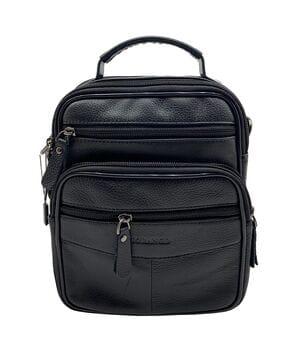 Кожаная мужская сумка Gorangd 18 x 22 x 8,5см Черный (g903-2)