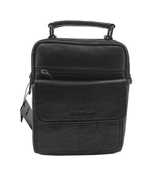 Кожаная мужская сумка Gorangd 18,5 x 23 x 9,5см Черный (g1643)