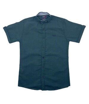 Рубашка с коротким рукавом Ronex Турция kr1008/2 Зеленая