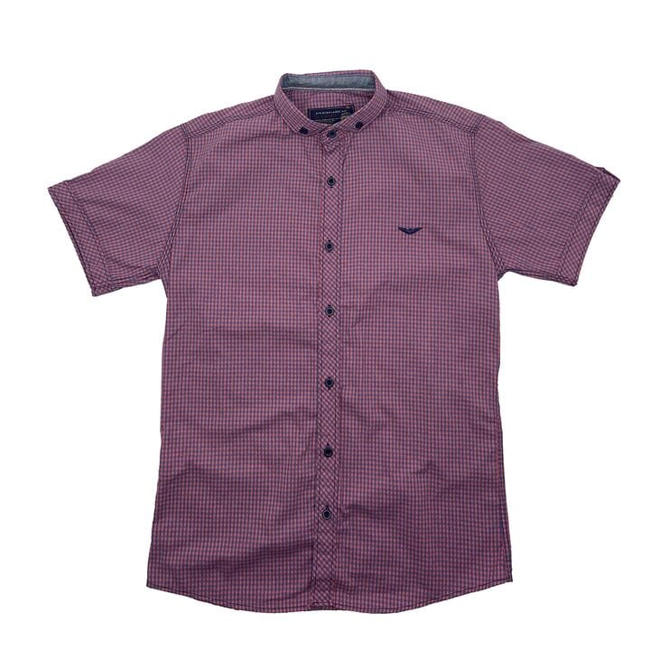 Рубашка с коротким рукавом Ronex Турция kr1008/6 Фиолетовая