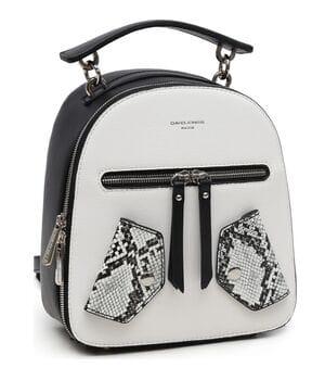 Женский рюкзак David Jones 24 x 20 x 10 см Черный с белым (6273-2)