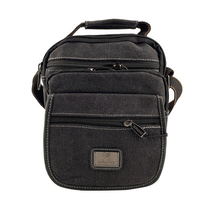 Мужская сумка через плече Gorangd Черная (021/3)