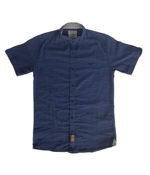 Рубашка с коротким рукавом Ronex Турция s0721 Синяя