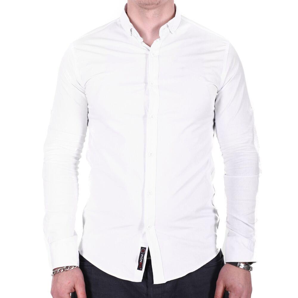 d6c08a13d759906 Купить Рубашка однотонная Ronex o02182 белая 8080-07 в Украине ...