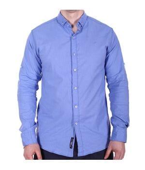 Рубашка однотонная Rigans o0218 синяя