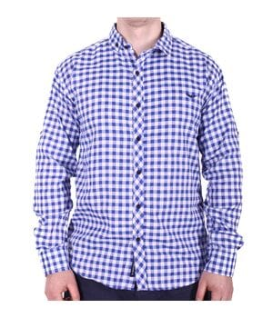 Рубашка батал Rigans турция b0118/1 синяя
