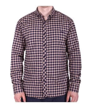 Рубашка батал Ronex турция b0118/3 коричневая
