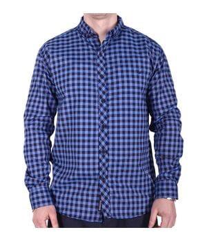 Рубашка батал Rigans турция b0118/5 темно-синяя