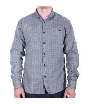 Рубашка большого размера Rigans b0218/2 серая