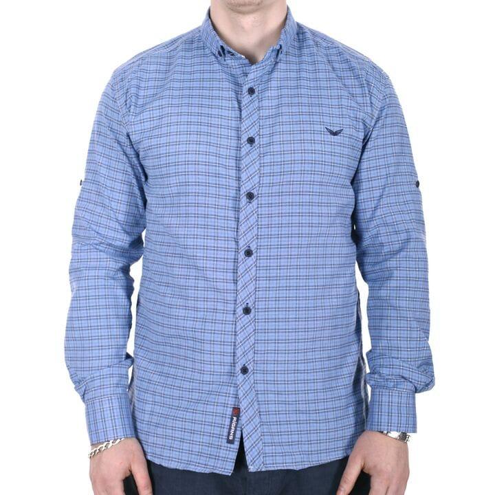 Рубашка большого размера Rigans b0218/3 голубая