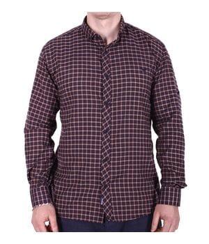 Рубашка большого размера Rigans b0218/4 коричневая