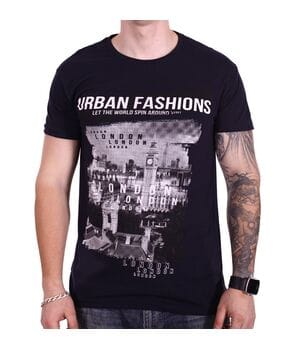 Футболка Rixon Urban Fashion 1814/1 Темно-синяя