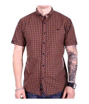 Рубашка с коротким рукавом Ronex Турция kr2004/2 Коричневая