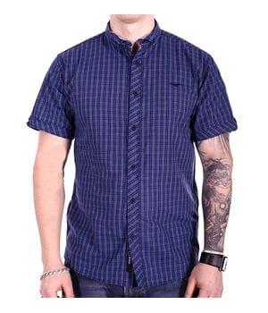 Рубашка с коротким рукавом Ronex Турция kr2004/1 Синяя
