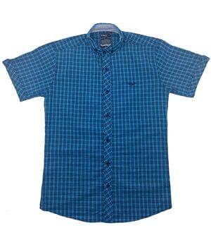 Рубашка с коротким рукавом Ronex Турция kr2004/3 Бирюзовая