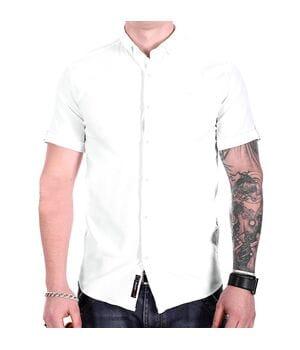Однотонная рубашка с коротким рукавом Ronex s1018/5 Белая