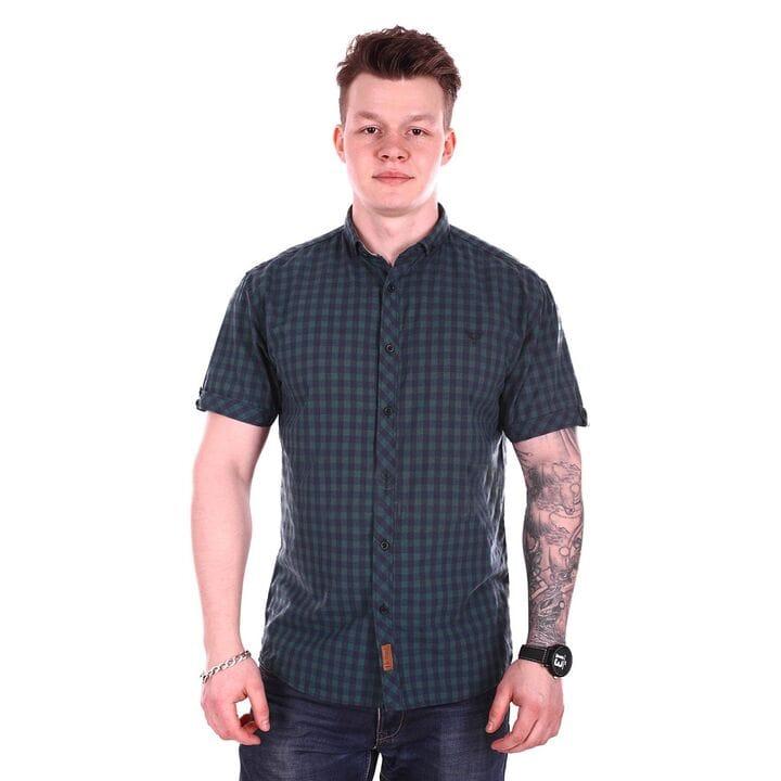Рубашка с коротким рукавом Ronex Турция s1519/1 Темно-зеленая