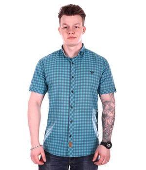 Рубашка с коротким рукавом Ronex Турция s1519/2 Бирюзовая